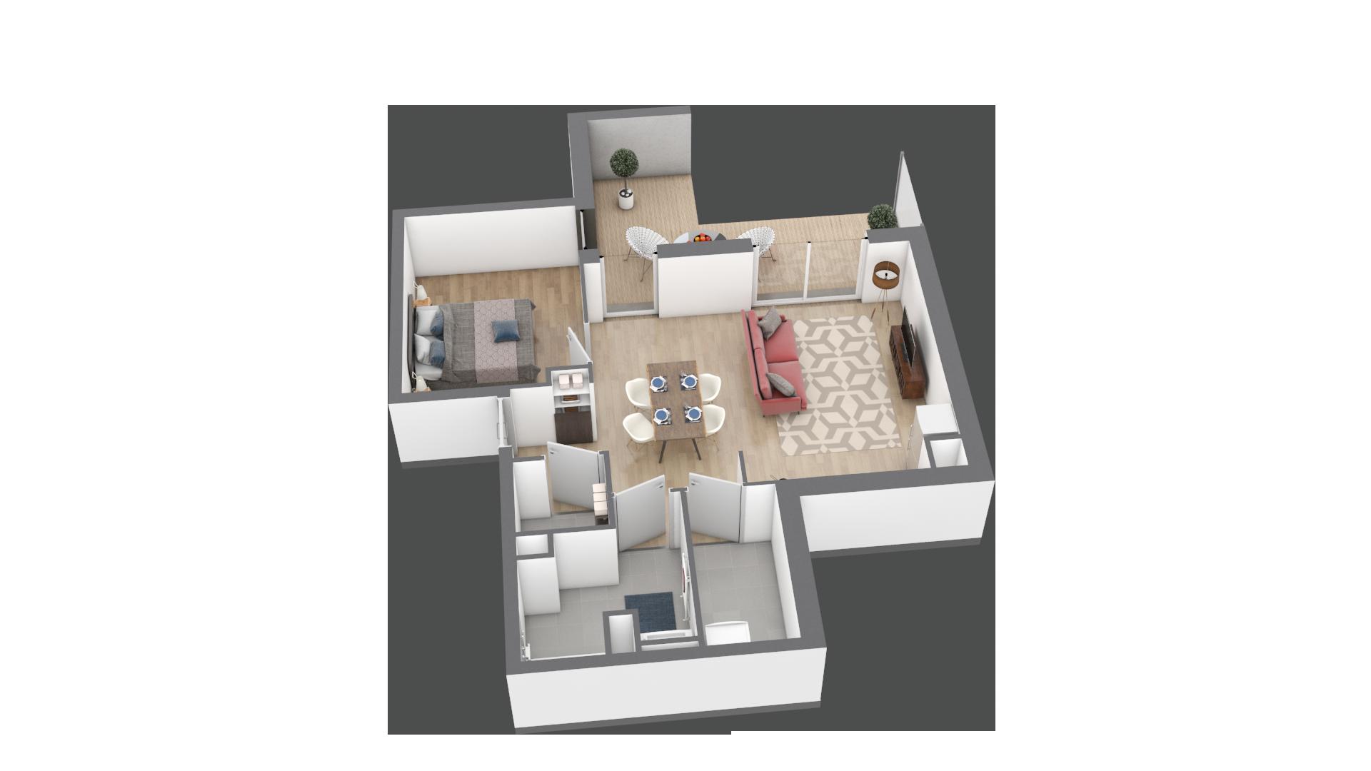 appartement A003 de type T2