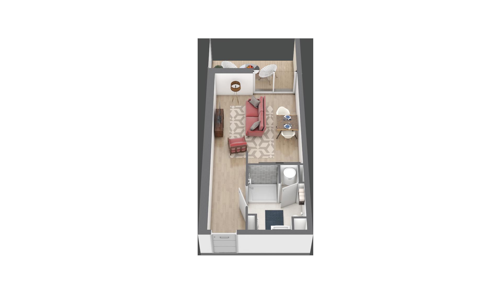 appartement A004 de type T1