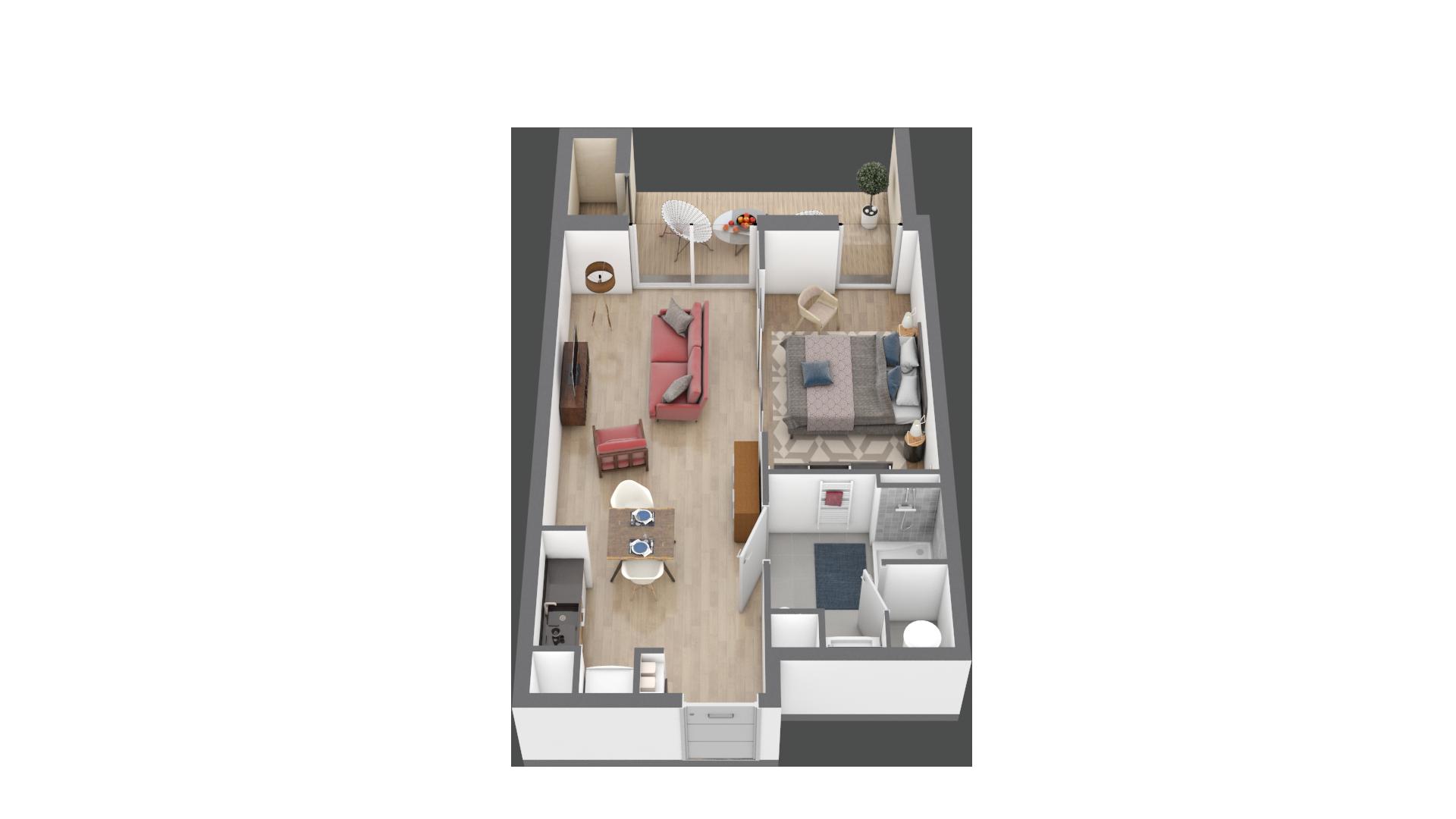 appartement A005 de type T2
