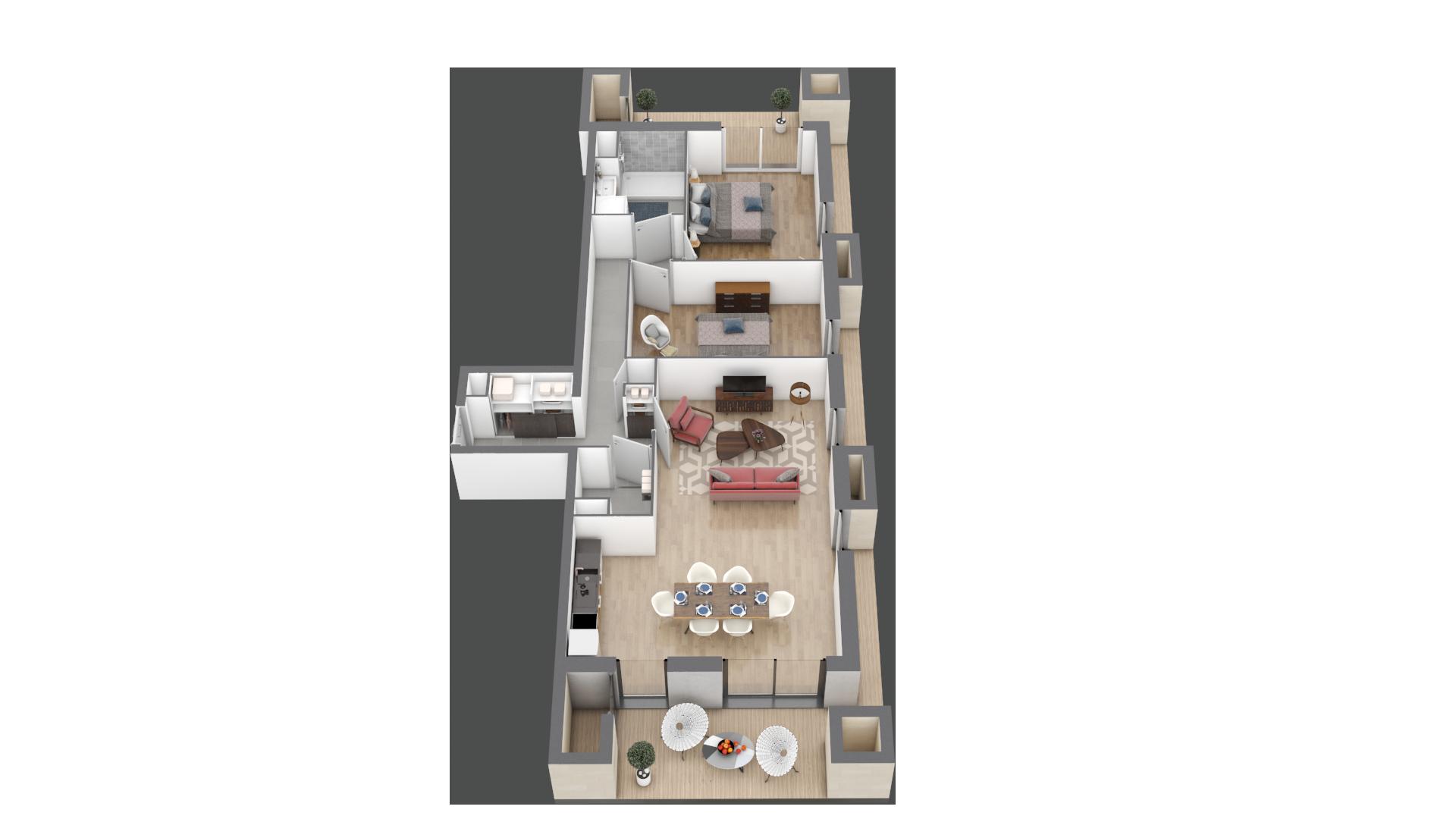 appartement A006 de type T3