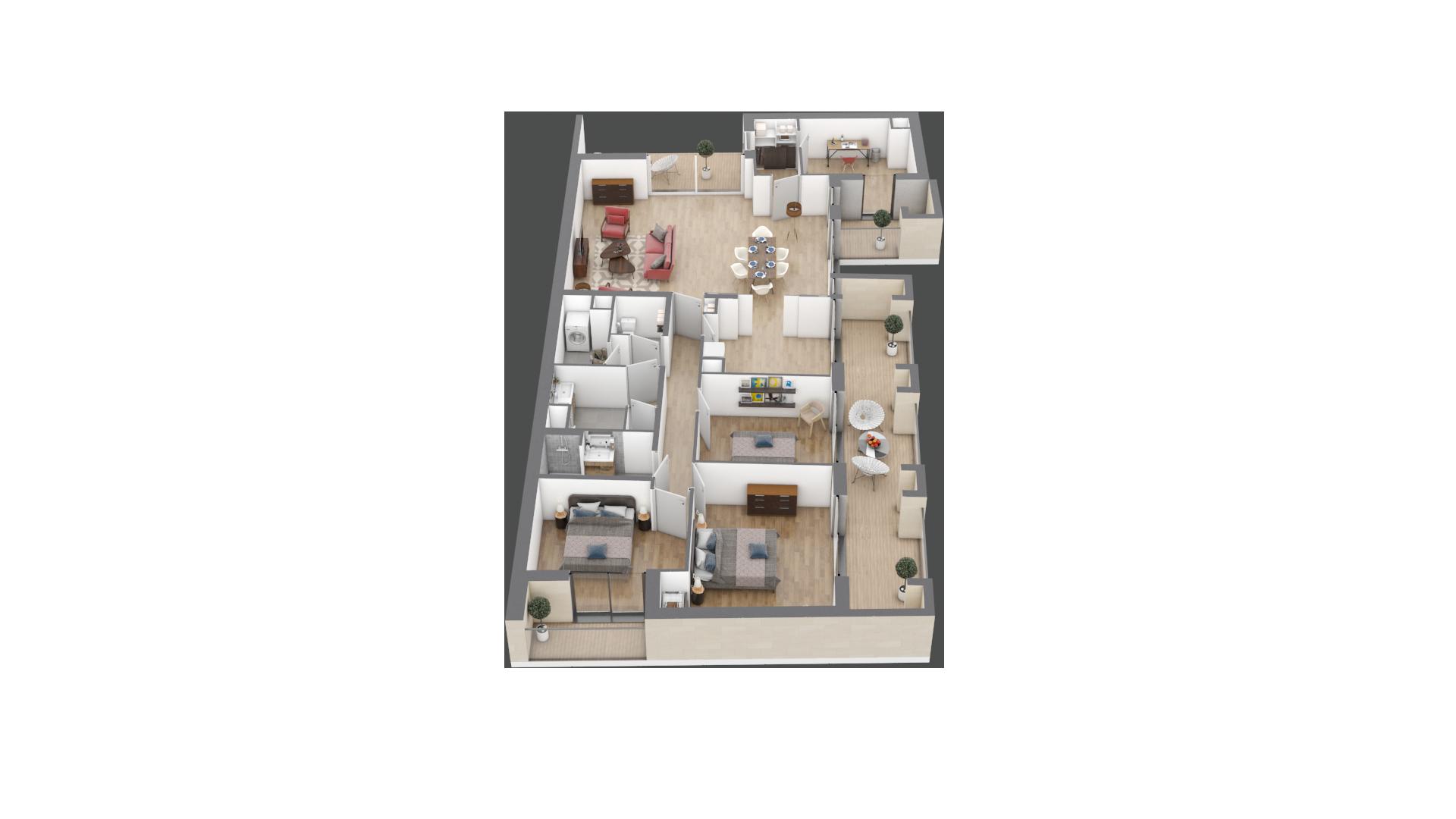 appartement A101 de type T5