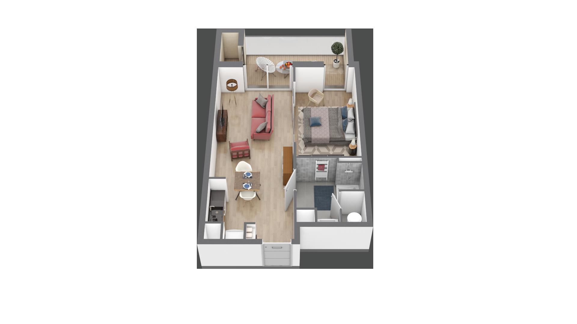 appartement A106 de type T2