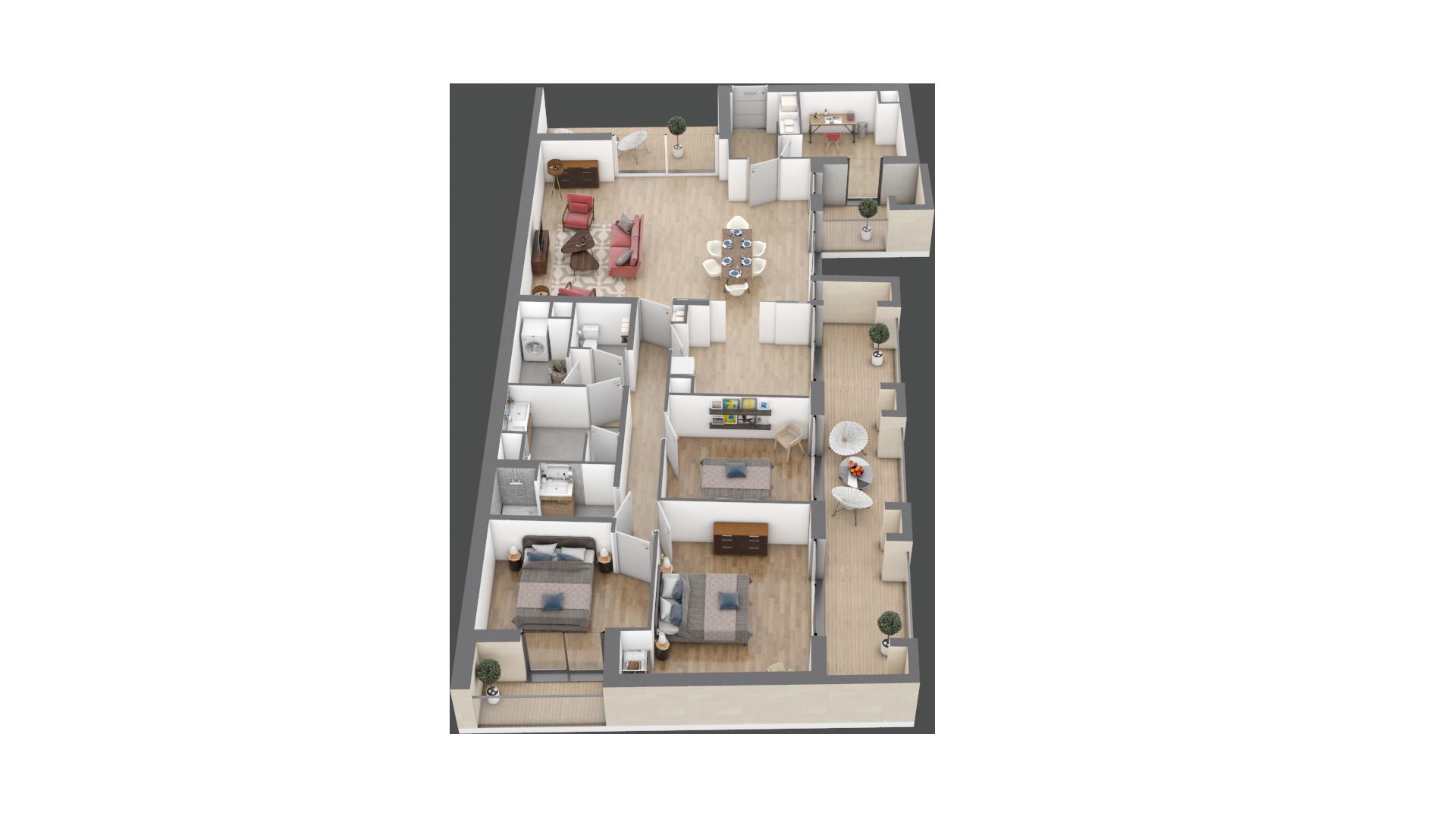 appartement A201 de type T5