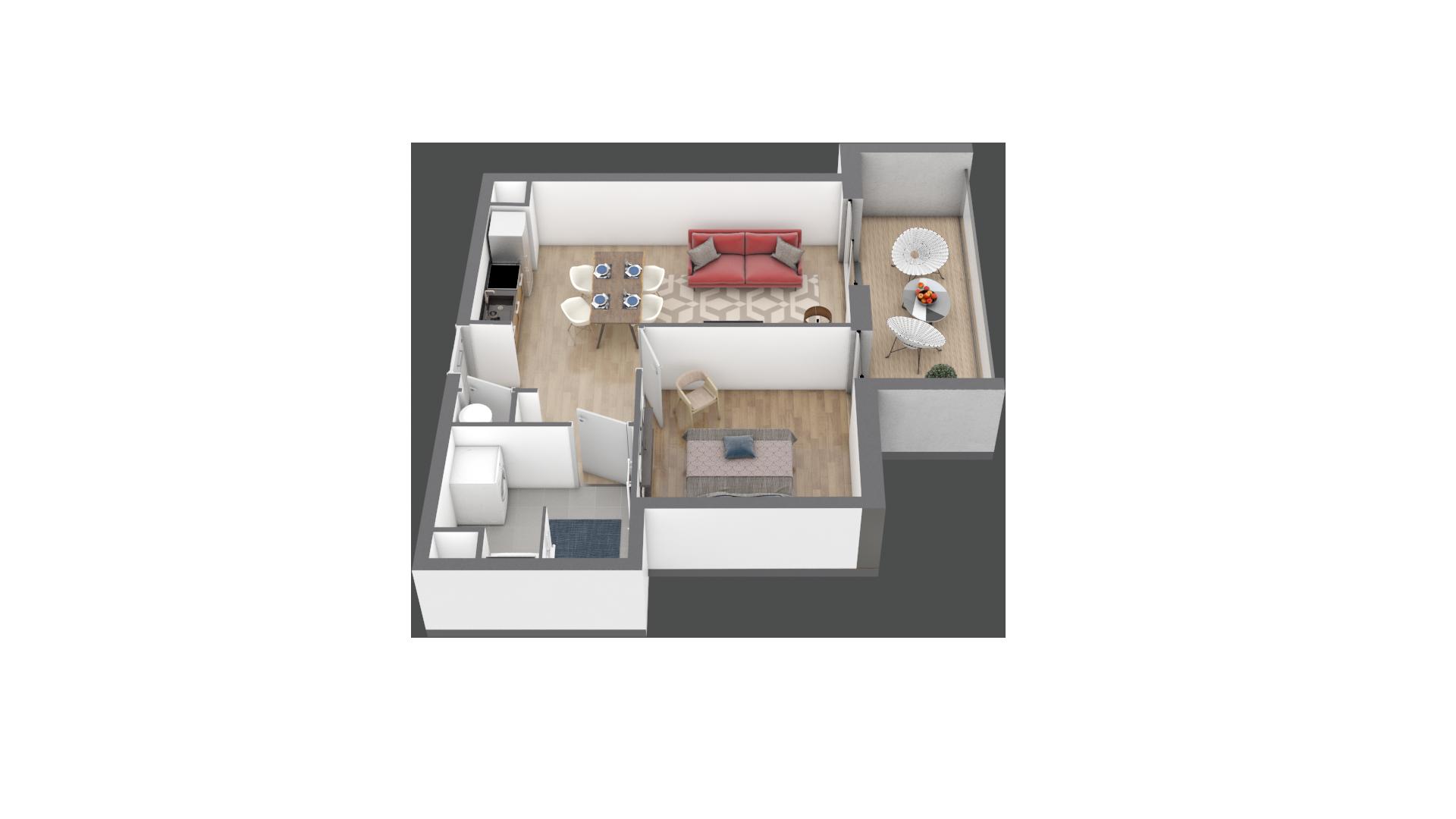 appartement A203 de type T2