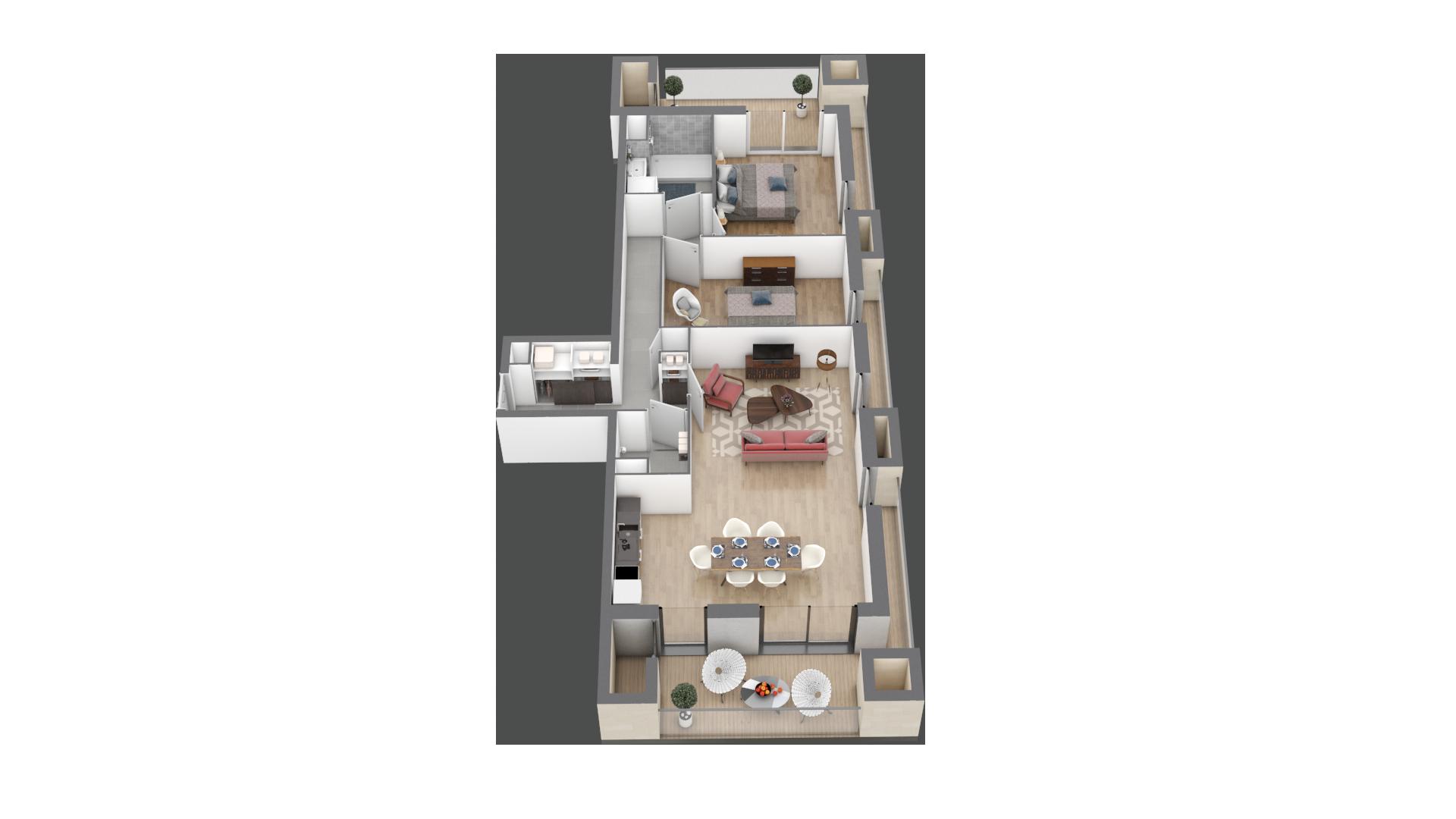 appartement A207 de type T3
