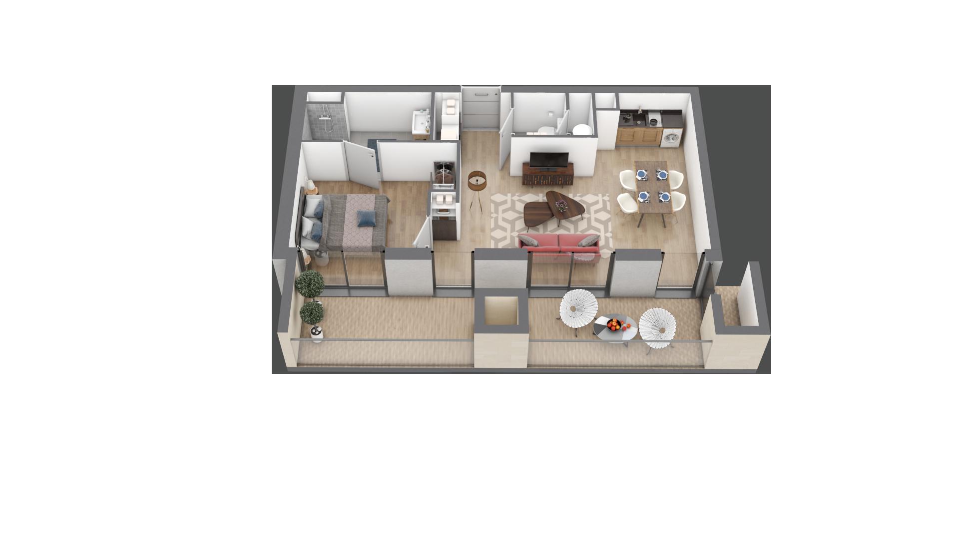appartement A209 de type T2
