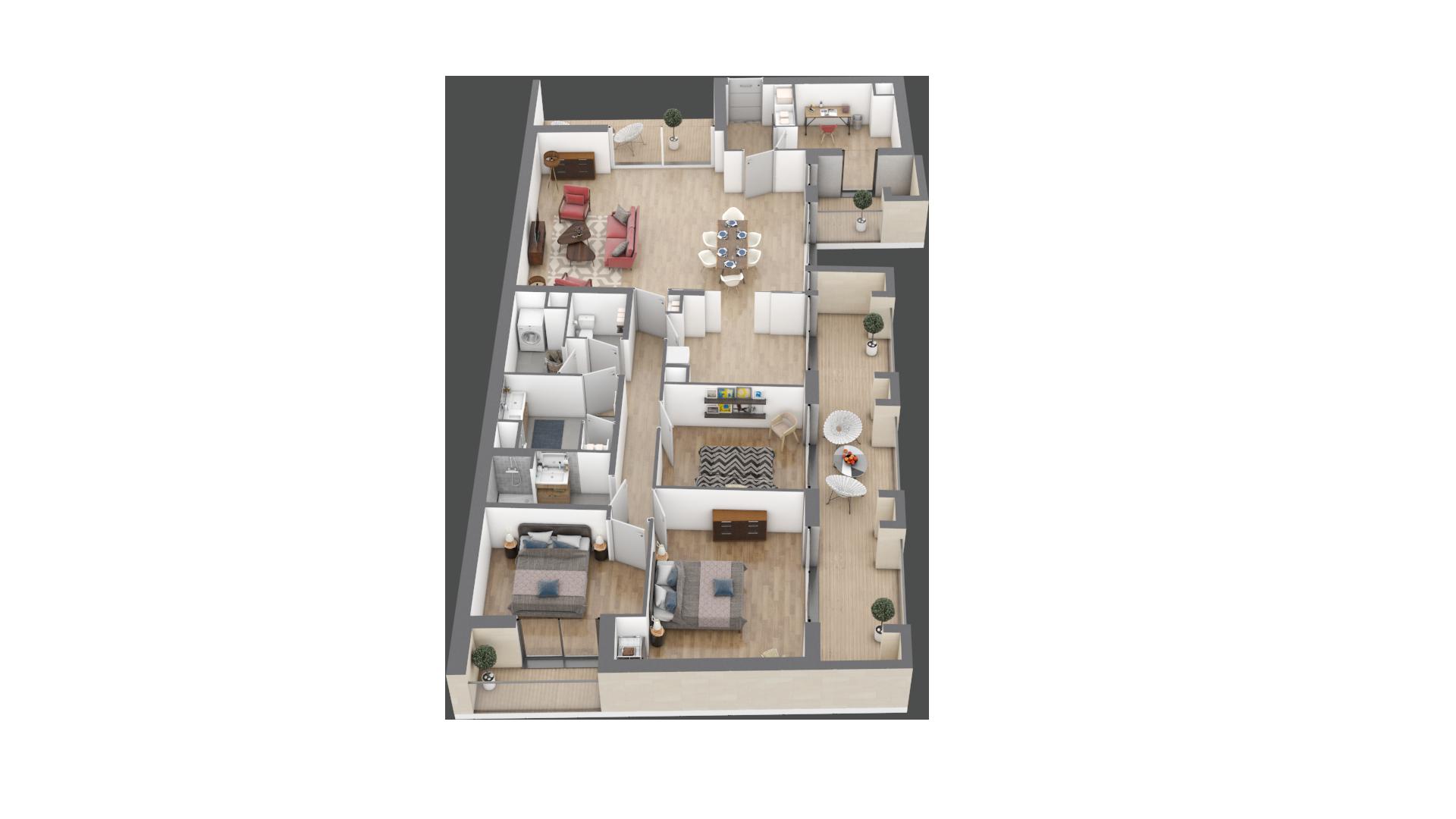 appartement A301 de type T5