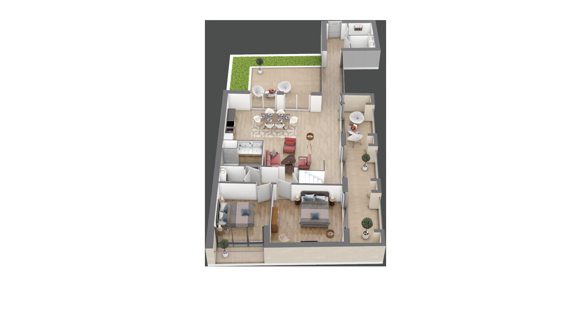 appartement A401 de type T6