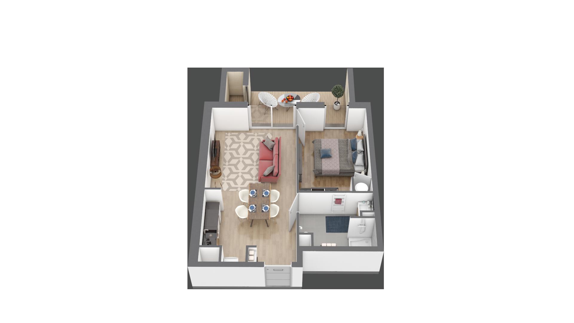 appartement B001 de type T2