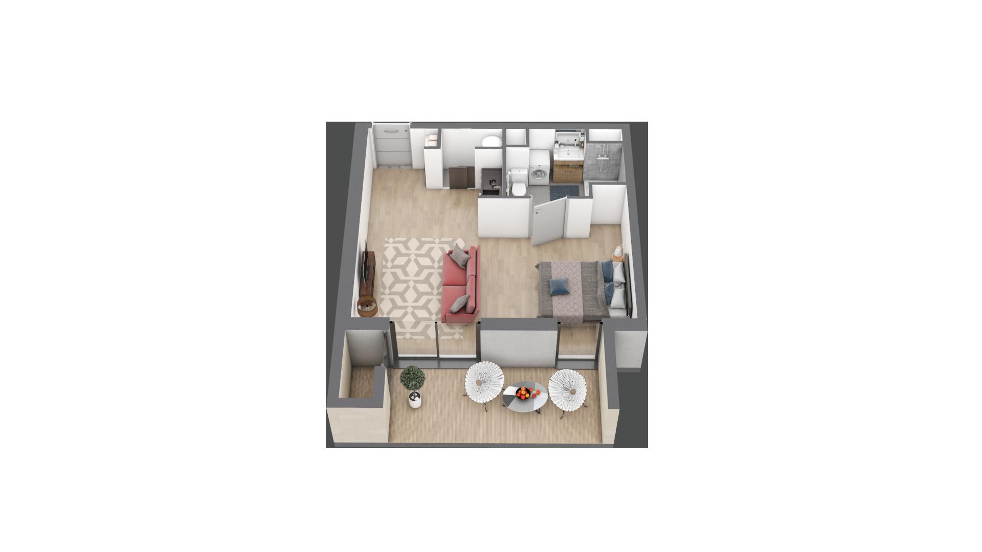 appartement B003 de type T1