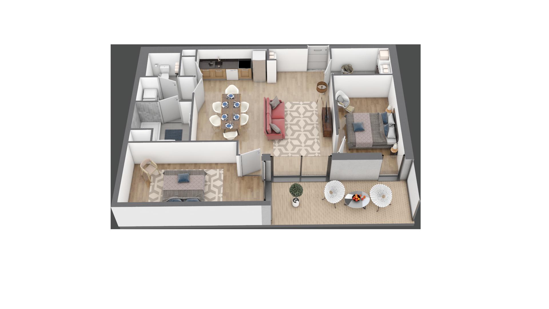 appartement B004 de type T3