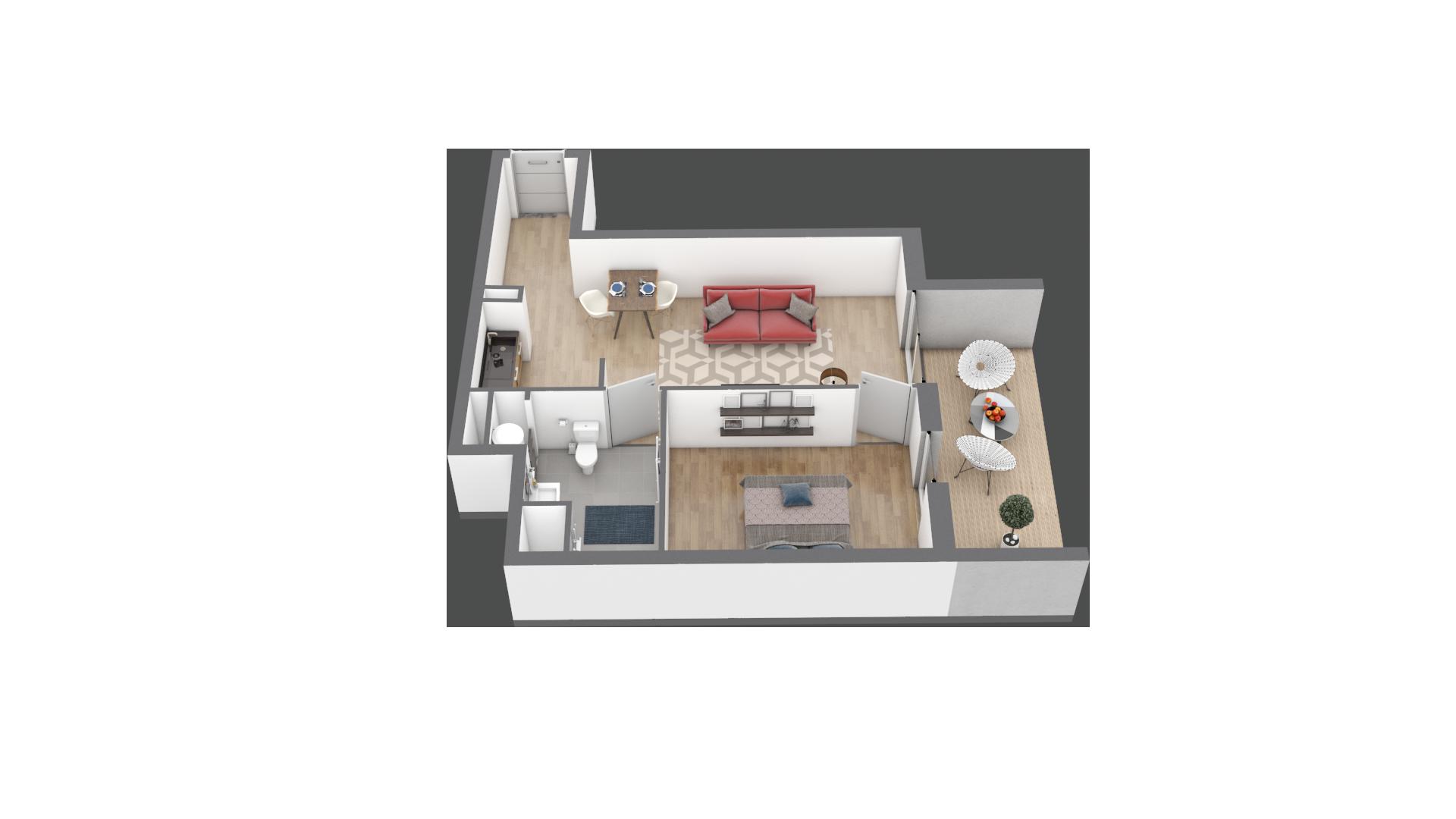 appartement B005 de type T2