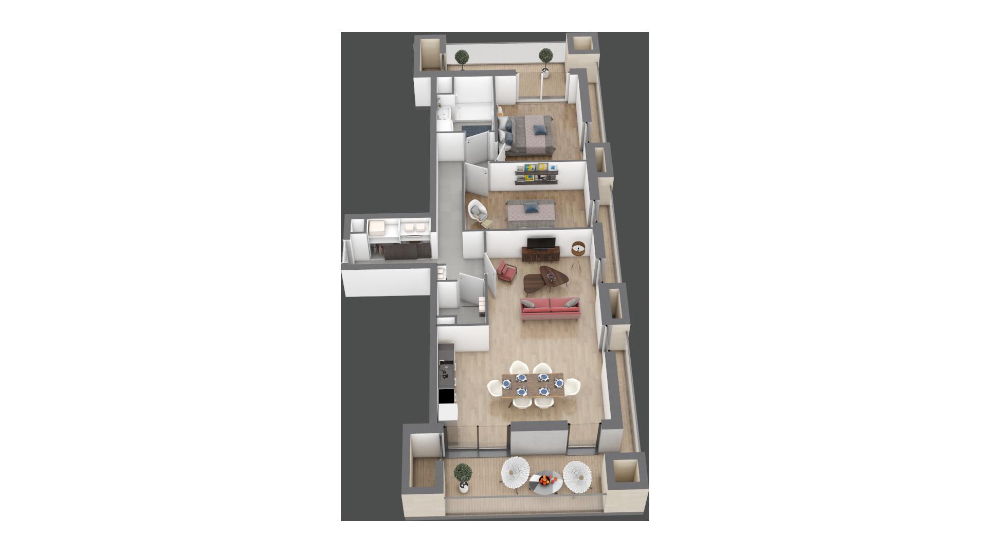 appartement B103 de type T3