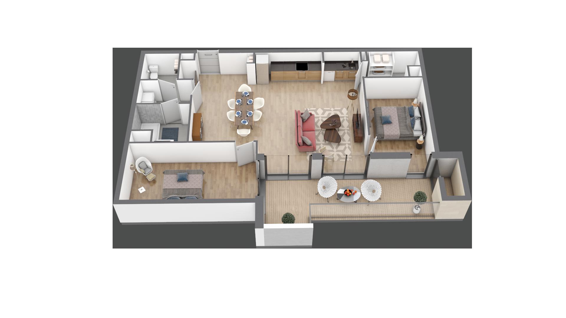 appartement B105 de type T3