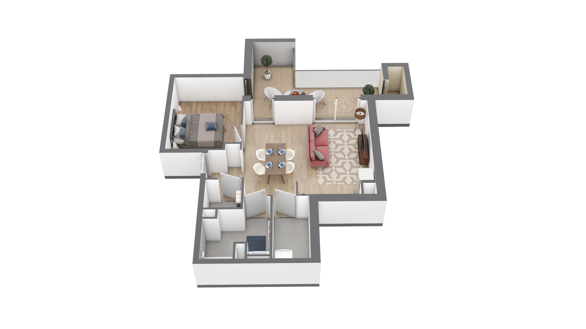 appartement B204 de type T1