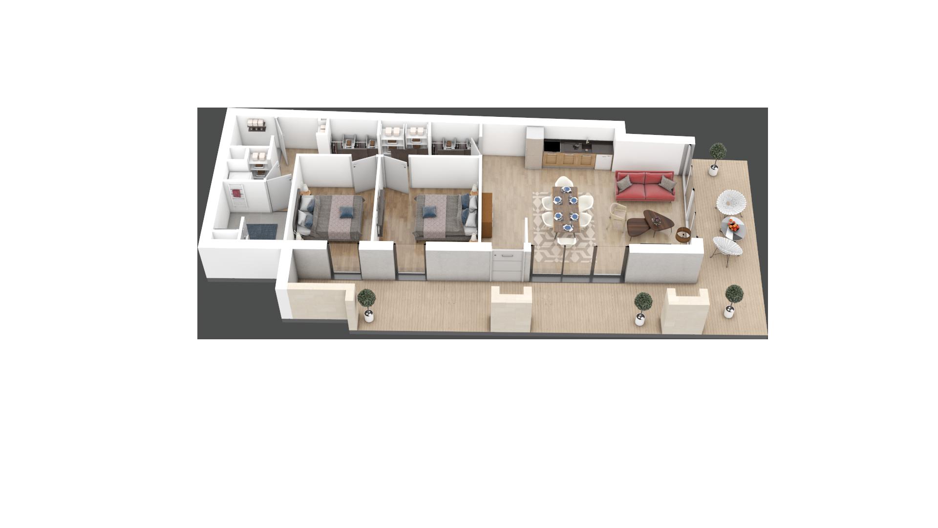 appartement C001 de type T3
