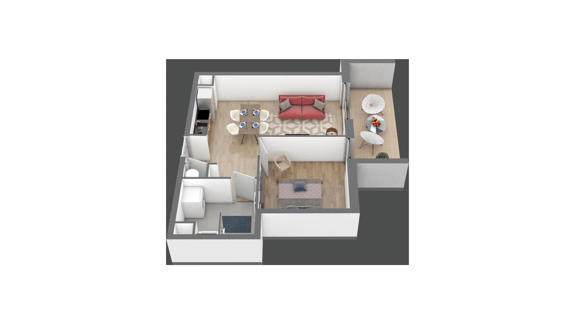 appartement C101 de type T3