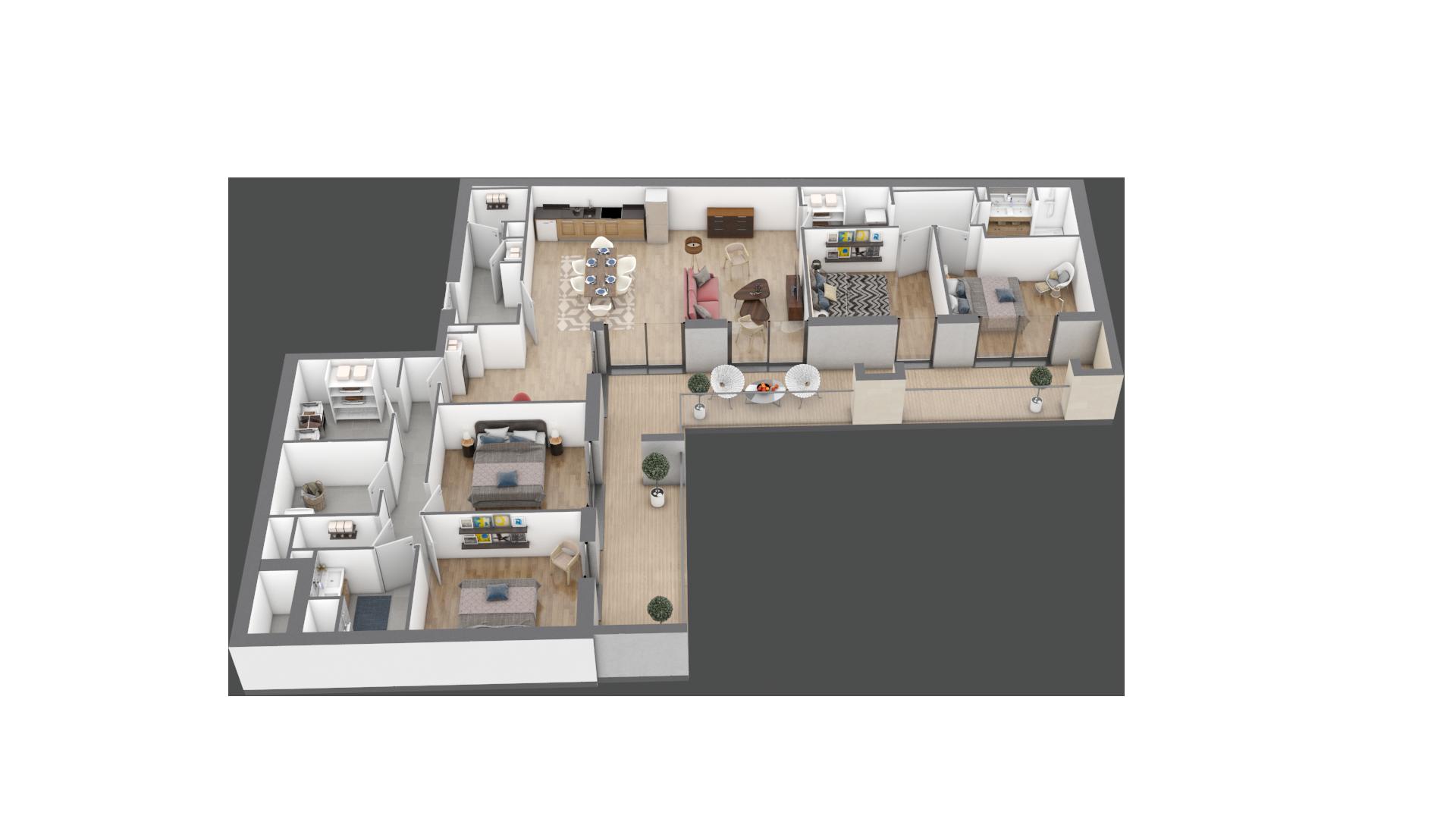 appartement C301 de type T5